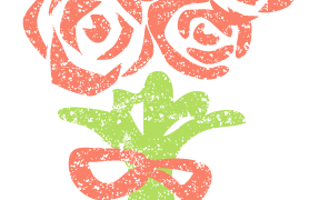 かわいいバラ花束イラスト無料素材