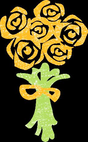花束バライラストかわいい