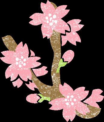 かわいい桜の花イラスト無料素材