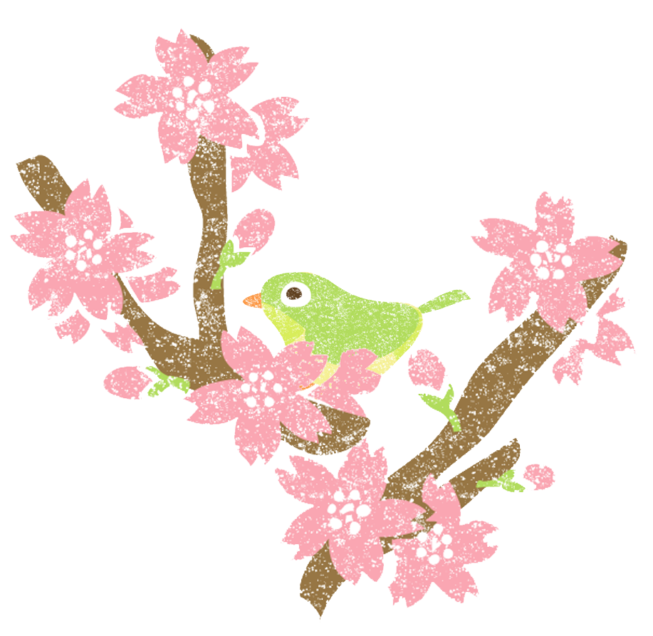 桜うぐいすイラストかわいい