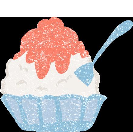 かわいいかき氷イラスト無料素材