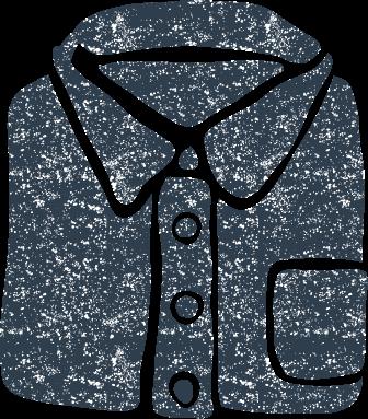 かわいいシャツイラスト無料素材
