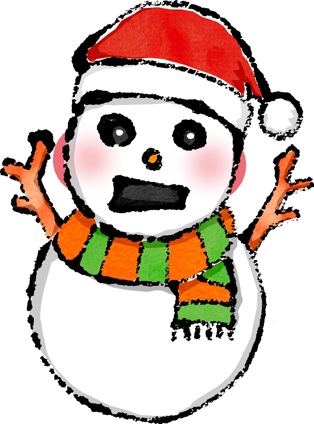 かわいい雪だるま無料イラスト無料素材