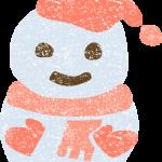かわいい雪だるまイラスト無料素材