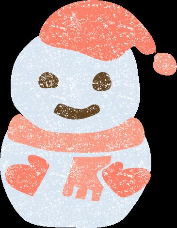 雪だるまイラスト無料