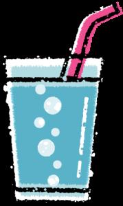 かわいい炭酸水サイダーイラスト無料素材