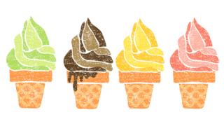 かわいいソフトクリームイラスト無料素材