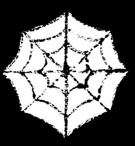 かわいいハロウィンクモの巣イラスト無料素材