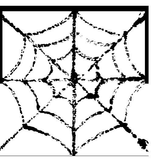 ハロウィンクモの巣イラスト