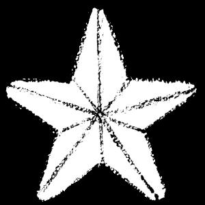 かわいい星イラスト無料素材白黒