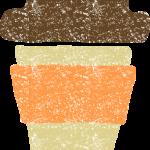 かわいいテイクアウトカップイラスト無料素材(温かい飲み物)
