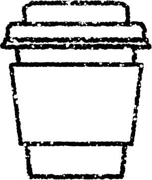 かわいいテイクアウトカップイラスト無料素材白黒