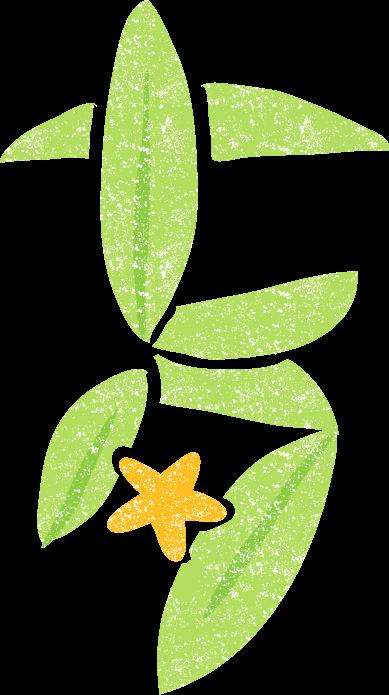 かわいい七夕文字イラスト無料素材