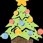 おしゃれかわいいクリスマスツリーイラスト無料素材