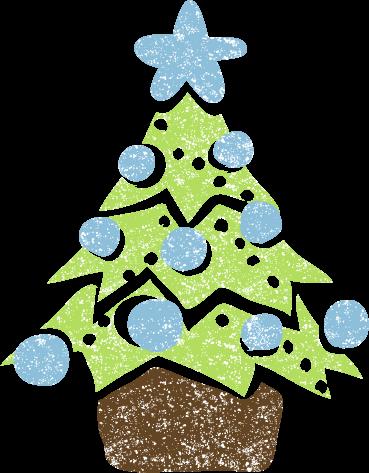 かわいいクリスマスツリーイラスト無料素材