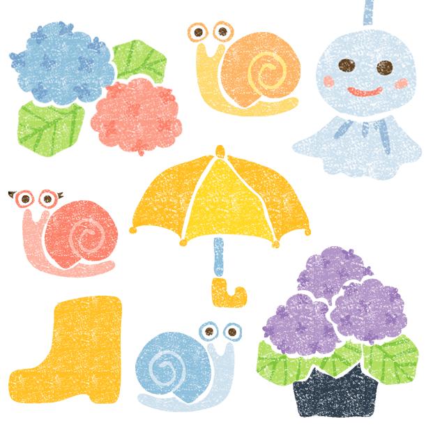 かわいい梅雨イラスト無料素材