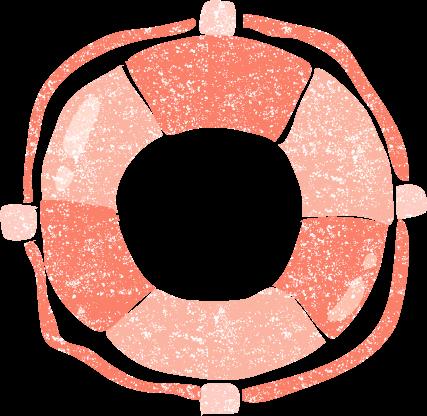 かわいい浮き輪無料イラスト素材
