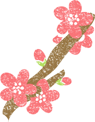 梅の花イラストかわいい