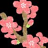 梅の花イラストフリー素材
