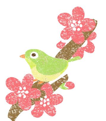 梅にうぐいすイラスト