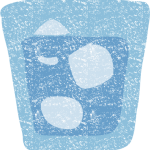 かわいい水の入ったグラスイラスト無料素材