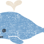 かわいいクジライラスト無料素材