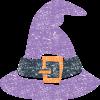 ハロウィン魔女帽子イラスト無料素材