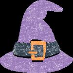 かわいいハロウィン魔女帽子イラスト無料素材